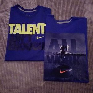 2 Nike dryfit t shirts, men's sz Large